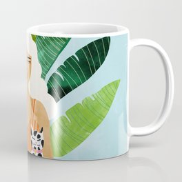 Meditation With Thy Cat #illustration #painting Coffee Mug