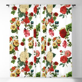 Keep it clean floral collage Blackout Curtain