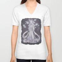 valar morghulis V-neck T-shirts featuring Varda, valar of light by ScottyTheCat