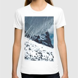 NATURE'S WONDER #1 - Icicles up in the mountains #art #society6 T-shirt