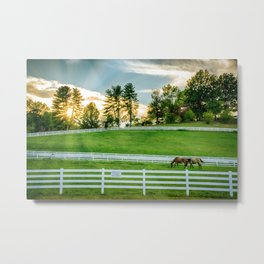 Sunrise on the Ranch Metal Print