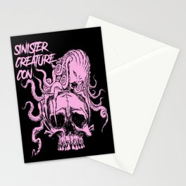 Sinister Creature Con Pink Skull Stationery Cards