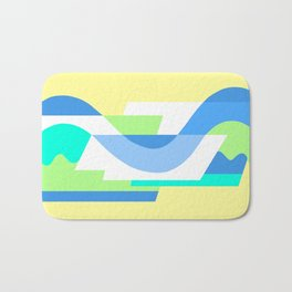 SUISSE - Art Deco Modern: FRESH WATER & SUNSHINE Bath Mat