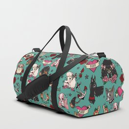 Tattoo Dogs Duffle Bag