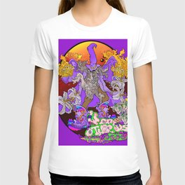 Other Worlds: Wizzin' all Over the Flora T-shirt