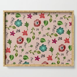 Japanese Flower Pattern Serving Tray