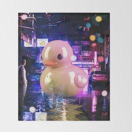 Rubber Duck Alley Throw Blanket