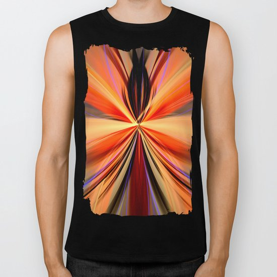 Artistic colourful abstract butterfly Biker Tank