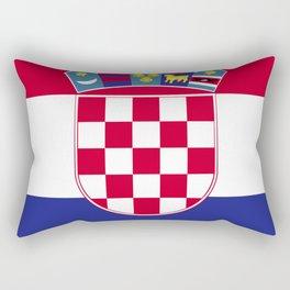 Croatia flag emblem Rectangular Pillow