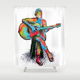 The guitarist Shower Curtain
