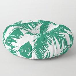 Palm Leaf Pattern Green Floor Pillow