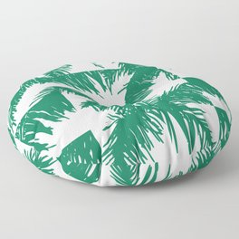 Palm Leaf Pattern Green Floor Pillow