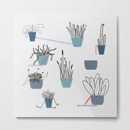 TIME TO PLANT Metal Print