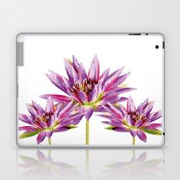 Violet Lotos - Lotus Water Lilies Flowers I Laptop & iPad Skin
