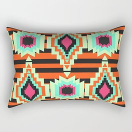 Multicolored ethnic decor with stripes Rectangular Pillow