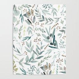 Eucalyptus pattern Poster