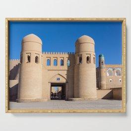 Khiva West Gate - Uzbekistan Serving Tray