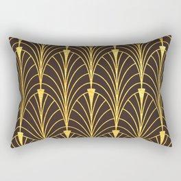 Breathtaking Francais Gold & Black Art Deco Rectangular Pillow
