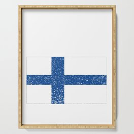 Finland National flag Distressed Finnish Country Gift Serving Tray
