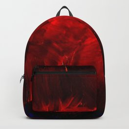 Red And Black Luxury Abstract Gothic Glam Chic by Corbin Henry Backpack