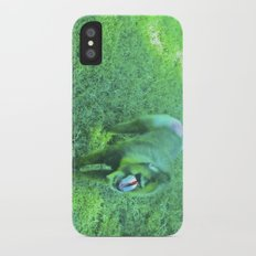 Monkey red nose, between green. Slim Case iPhone X
