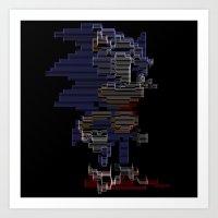 sonic Art Prints featuring Sonic by Anastase Kyriakos
