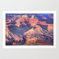 Grand Canyon Interior at Evening Art Print