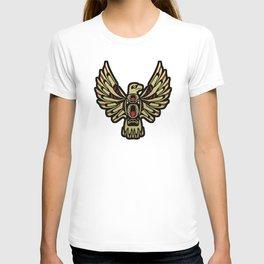 Tribal Black and Gold Eagle Digital Design T-shirt