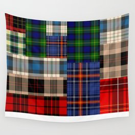 Crazy Plaid #2 Wall Tapestry