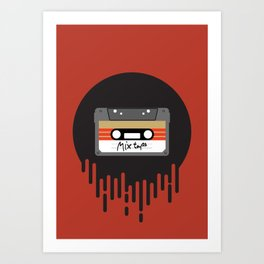 Mix Tape Cassette Art Print
