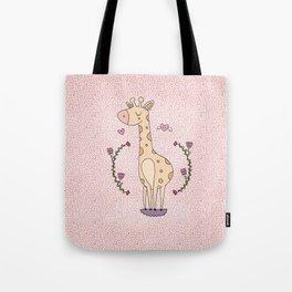 Lovely Girafe  Tote Bag