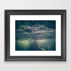 Underwater at the Lake Framed Art Print