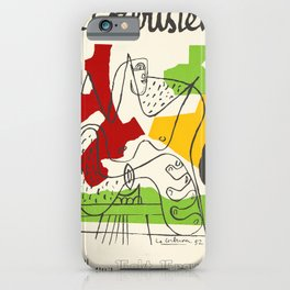 Le Corbusier - Vintage french exhibition poster iPhone Case