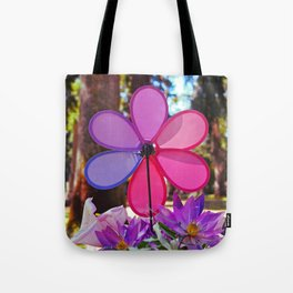 Whirligig colors Tote Bag