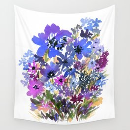 Heavenly Blues and Purples Wall Tapestry