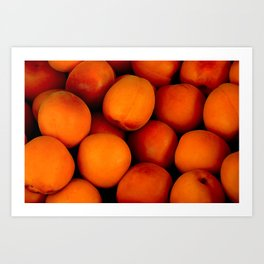 Beautiful peach fruit pattern Art Print