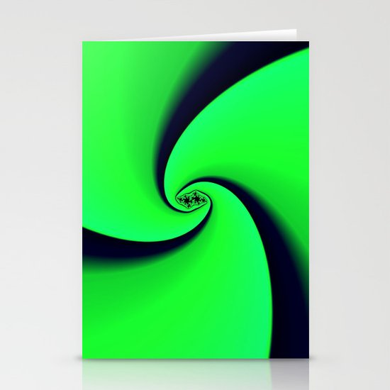 Black and Green  Stationery Cards