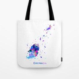 Grenada Map Tote Bag