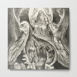 """William Blake """"The Book of Job Pl. 16, Thou hast fulfilled the judgment of the wicked"""" Metal Print"""