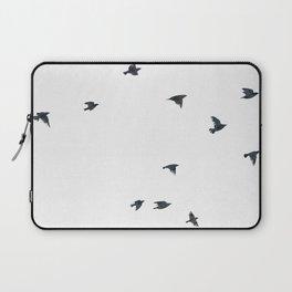 Ravens Birds in Black and White Laptop Sleeve