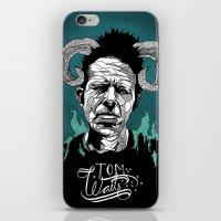 tom waits iPhone & iPod Skins featuring Tom Waits by Linnéa Ek