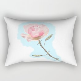 Old but beautiful...barbed wire rose Rectangular Pillow