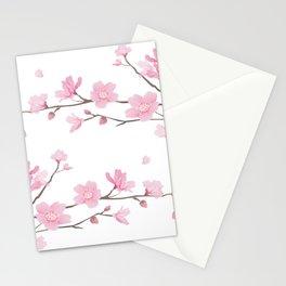 Cherry Blossom - Transparent Background Stationery Cards