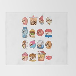 Puglie Food Collection 3 Throw Blanket
