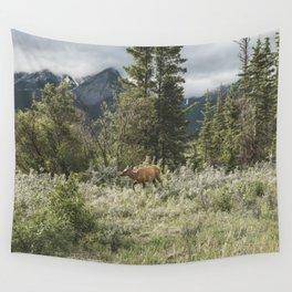 Alberta Wilderness Landscape Photograhy | Elk | Wildlife | Animal Wall Tapestry