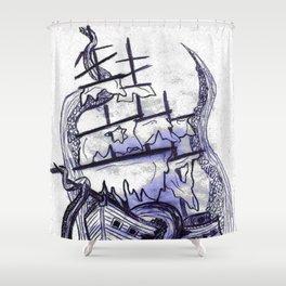 Abandon Ship  Shower Curtain