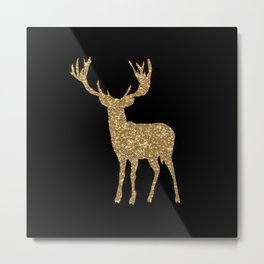 Sparkling golden deer - Wild Animal Animals on #Society6 Metal Print
