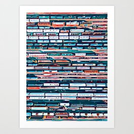 Cool patterns ~ Train Jam Art Print