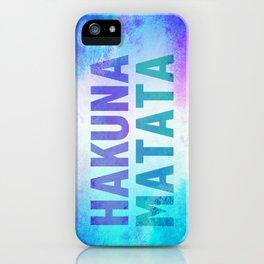 Hakuna Matata III iPhone Case