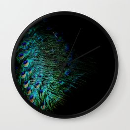 Peacock Details Wall Clock